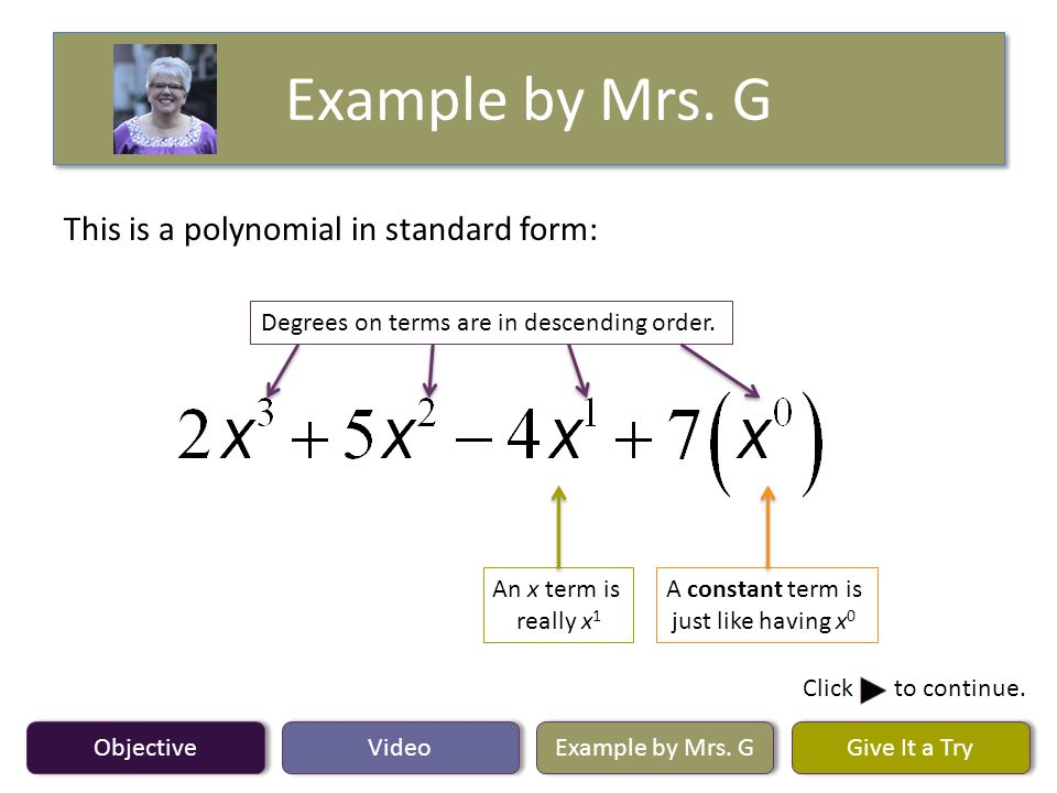 Objective Video Example By Mrs G Give It A Try Lesson 61