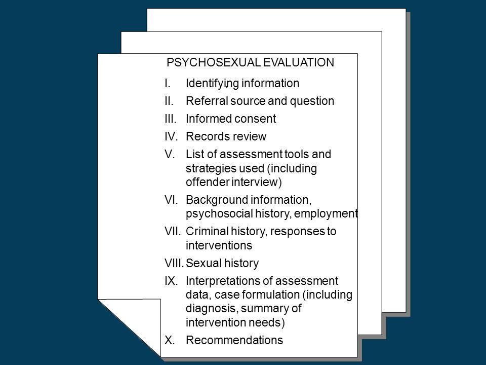 Psycho-sexual evaluation