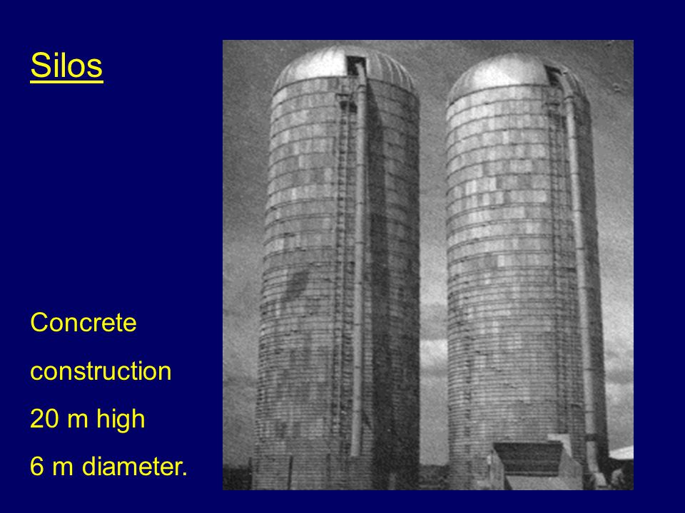 Typical silo Steel plate construction agricultural use.