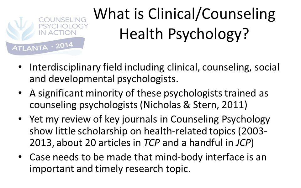 research topics in counselling psychology