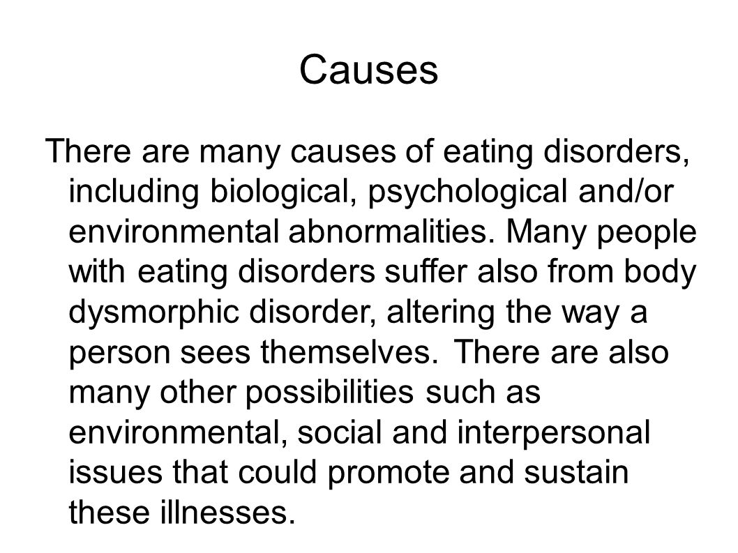 the perils of eating disorders. eating disorders are conditions