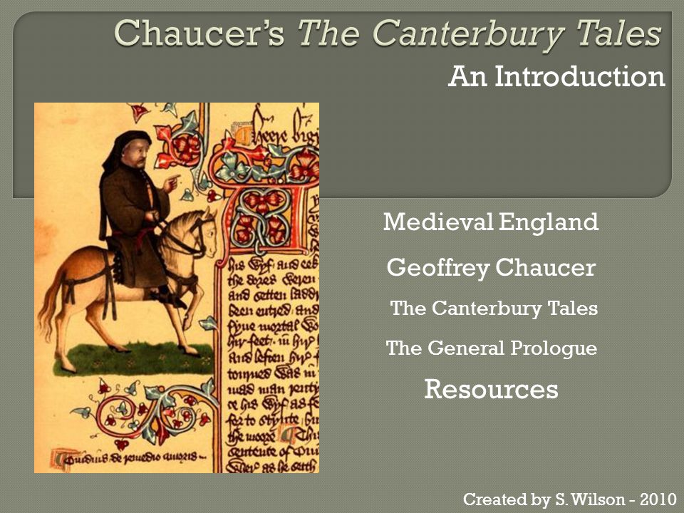 the canterbury tales general prologue essays The general prologue to the canterbury tales is a crucial part of the poem, because it first identifies the reader with the individuals that will be going on the pilgrimage to canterburry it narrates the gathering of the pilgrims at the tabard inn at southwerk.