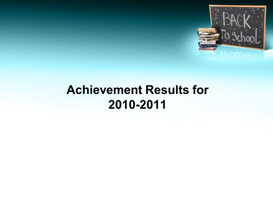 Achievement Results for