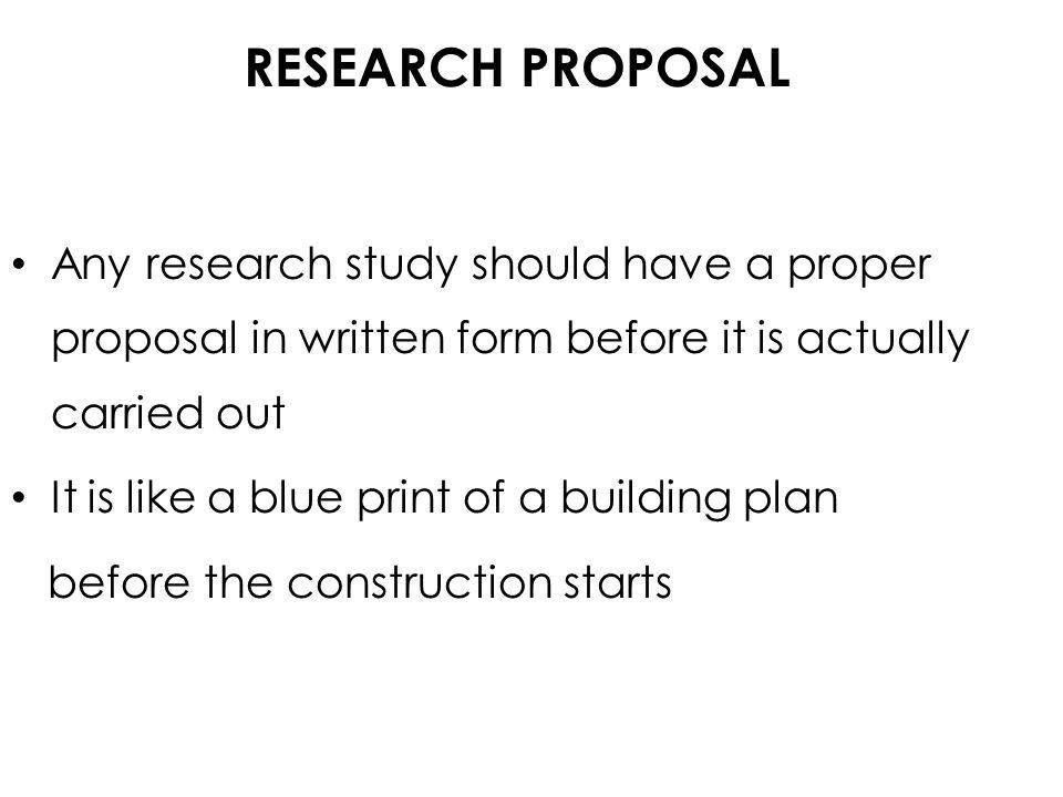 research study proposal
