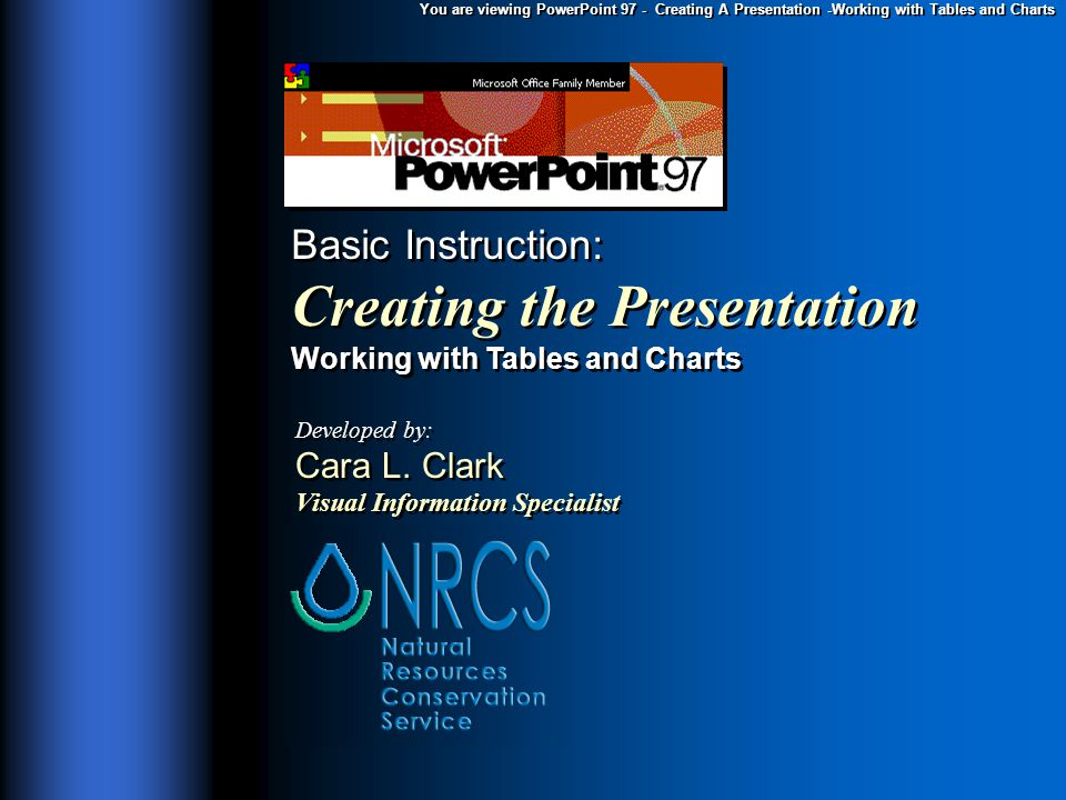 You are viewing powerpoint 97 creating a presentation working you are viewing powerpoint 97 creating a presentation working with tables and charts basic ccuart Choice Image