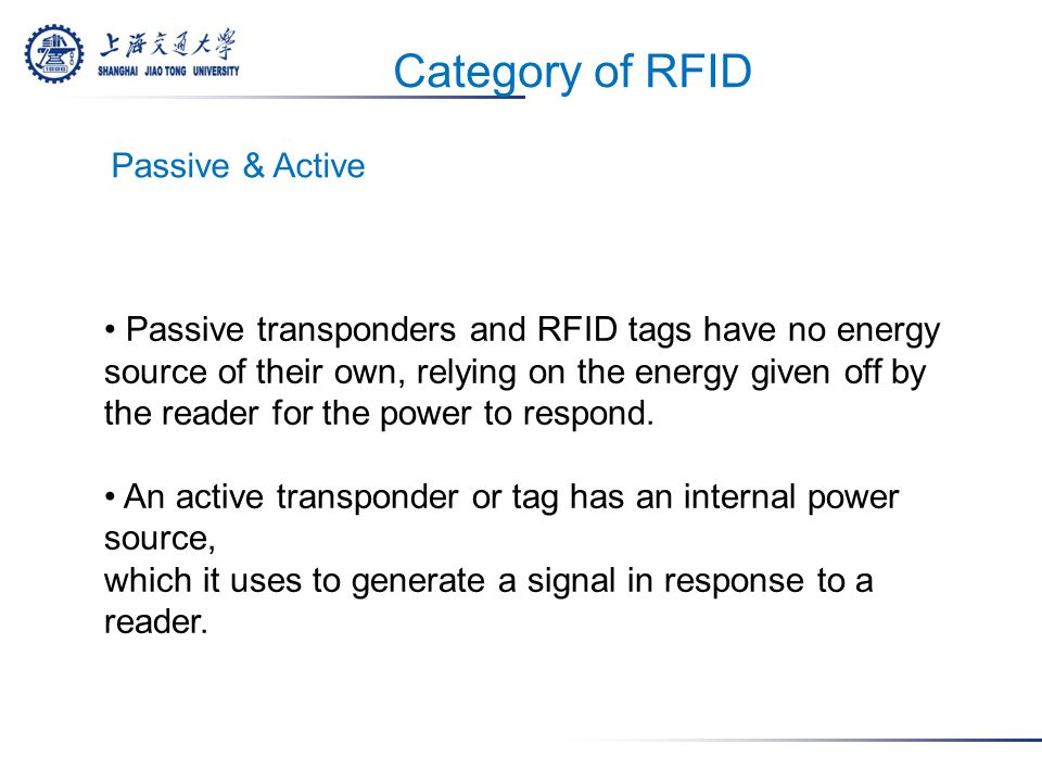 RFID TAG An RFID tag is an electronic device about the size of a grain of rice.