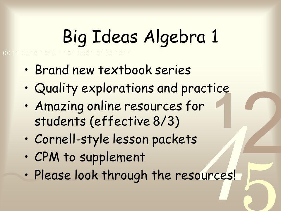 Curriculum Night Welcome to Mrs  Rife's Algebra 1 Math Class