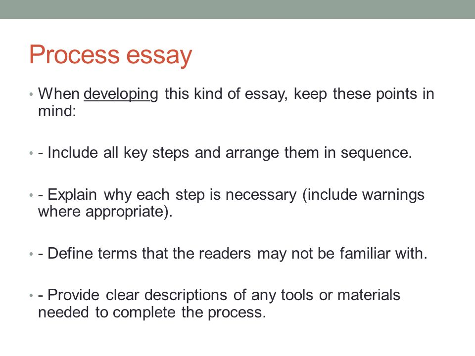 Academic Writing I May  Th Today Look At Another Essay Type  Ppt   Process