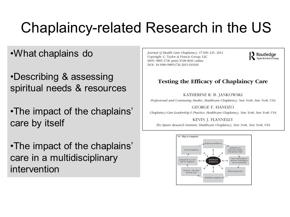 EVIDENCE-BASED SPIRITUAL CARE FOR CHAPLAINS: Desirable