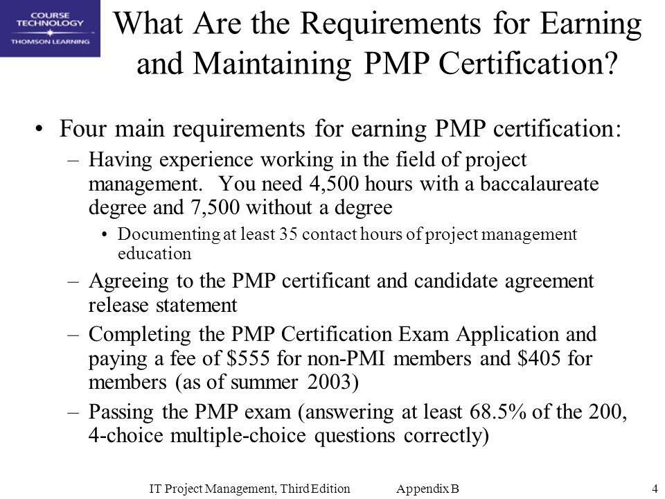 It Project Management Third Edition Appendix B1 Appendix B Advice