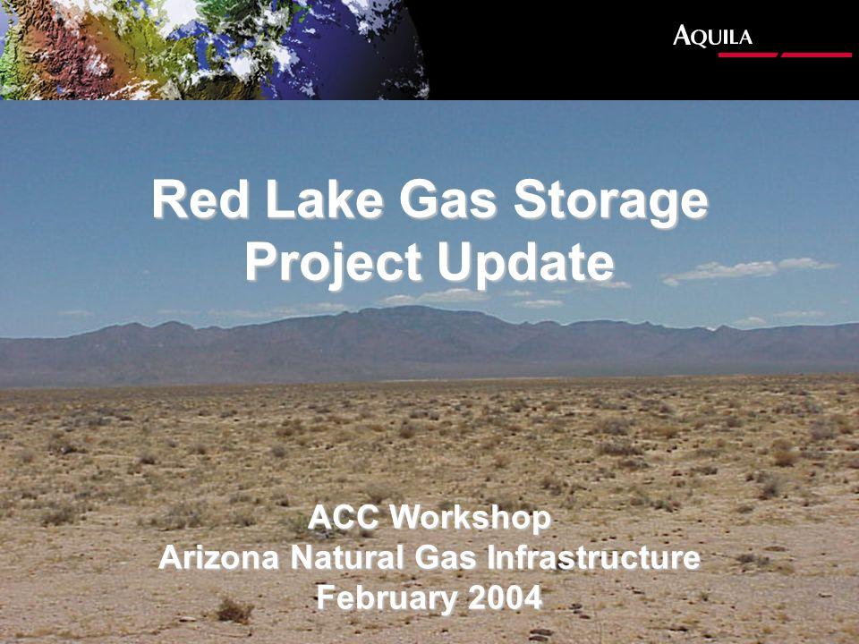 Red Lake Gas Storage Project Update ACC Workshop Arizona