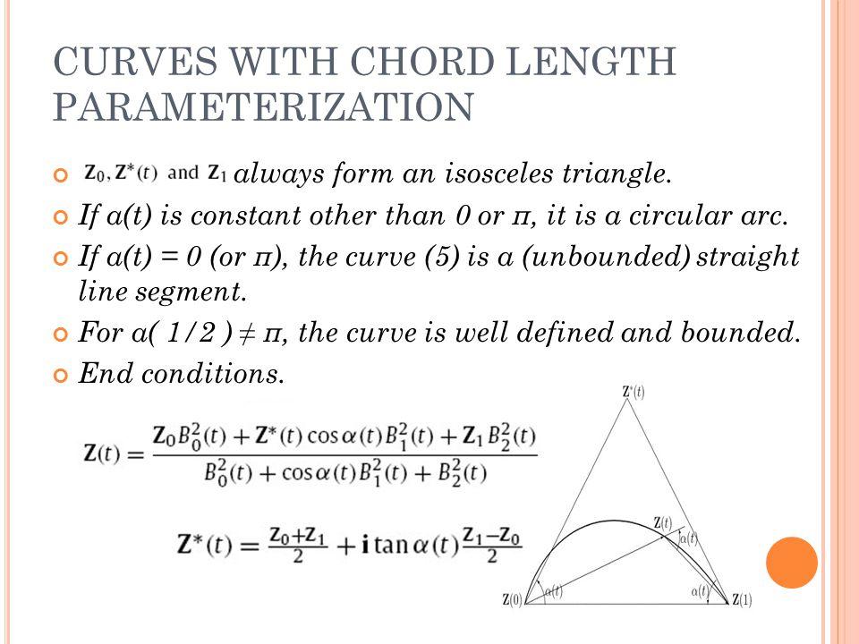 CHORD LENGTH PARAMETERIZAT ION 支德佳 Chord length: CHORD LENGTH ...