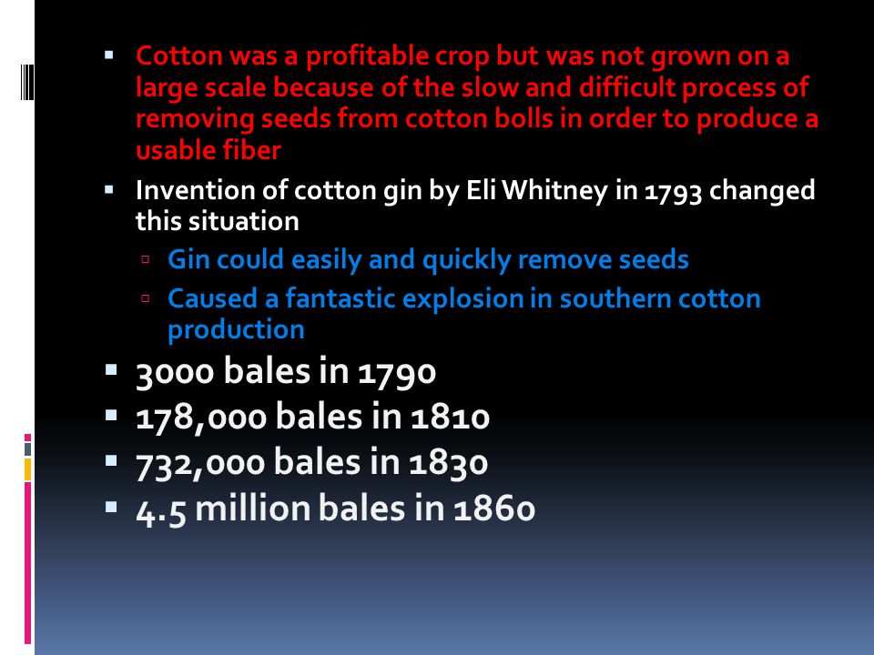 Eq How Does Eli Whitney S Cotton Gin Lead To The Civil War