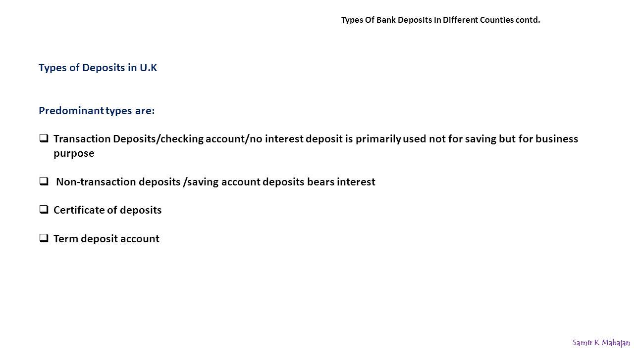Bank Deposits Deposit Management Samir K Mahajan Ppt Download