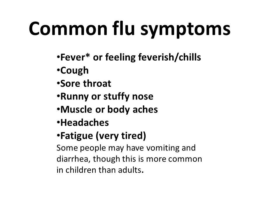 Flu symptoms sore throat headache body aches fatigue