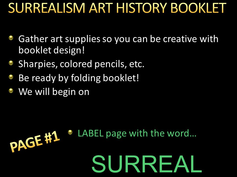 Gather art supplies so you can be creative with booklet design.