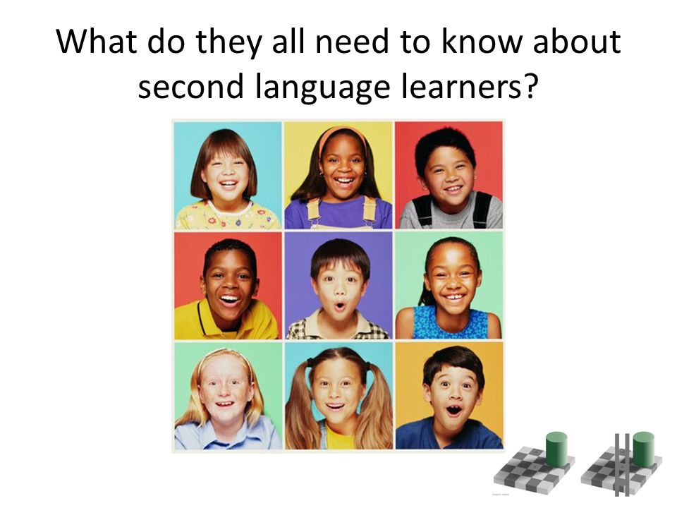 What do they all need to know about second language learners