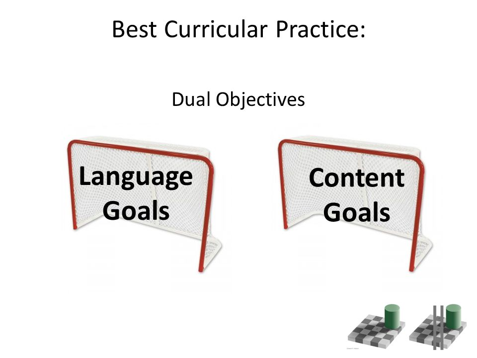 Best Curricular Practice: Dual Objectives Language Goals Content Goals