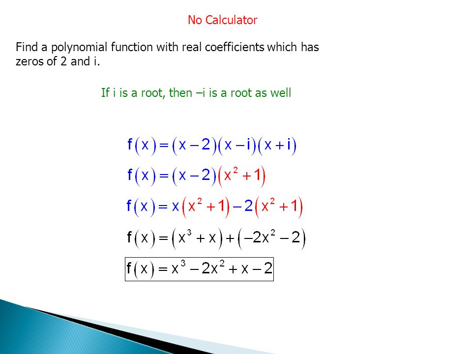 find the zeros of a polynomial function online calculator