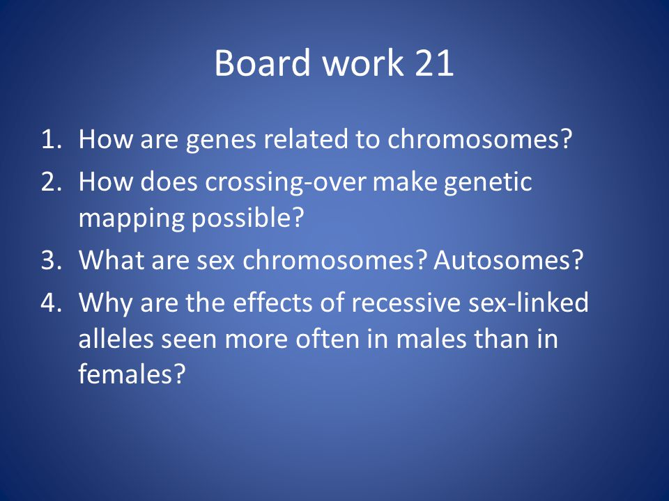 How Does Crossing Over Make Gene Mapping Possible Genes and Chromosomes The Chromosome Theory of Heredity Mutations