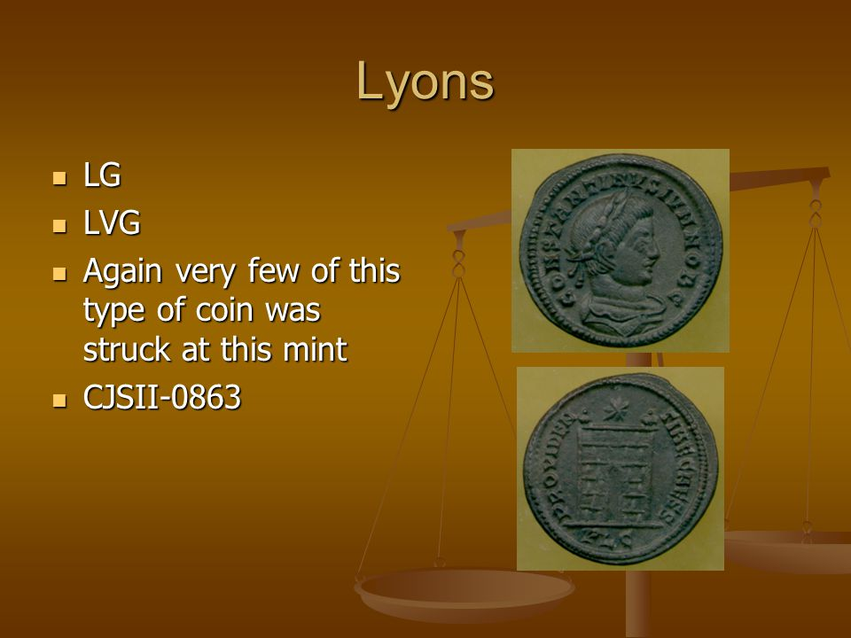 Lyons LG LG LVG LVG Again very few of this type of coin was struck at this mint Again very few of this type of coin was struck at this mint CJSII-0863 CJSII-0863