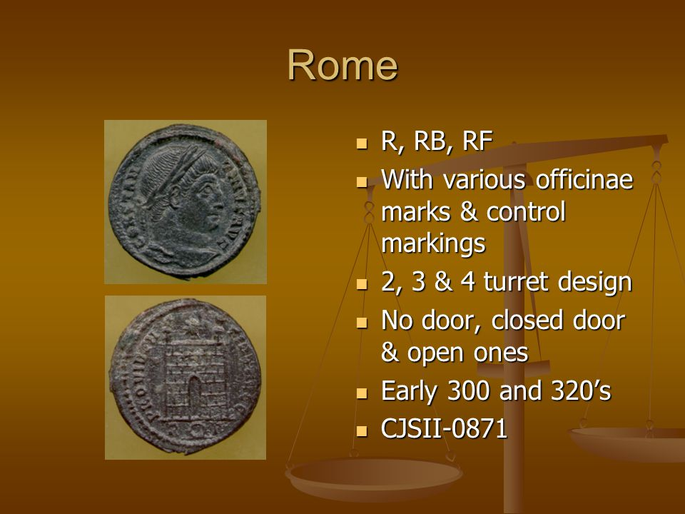 Rome R, RB, RF With various officinae marks & control markings 2, 3 & 4 turret design No door, closed door & open ones Early 300 and 320's CJSII-0871