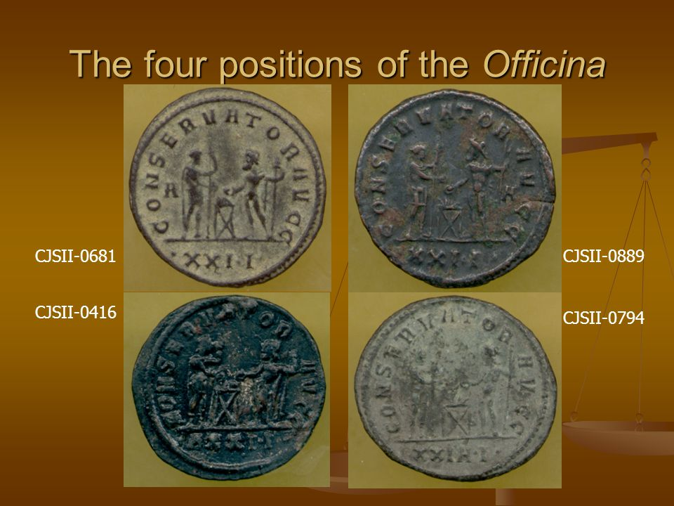 The four positions of the Officina CJSII-0681 CJSII-0416 CJSII-0889 CJSII-0794
