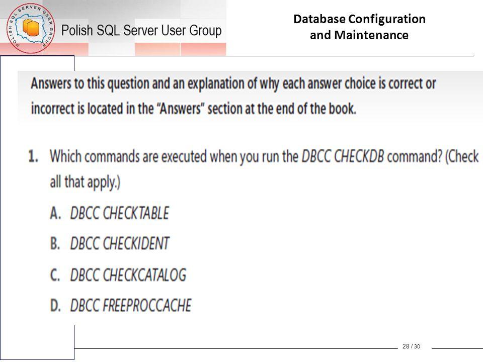 Database Configuration and Maintenance Database