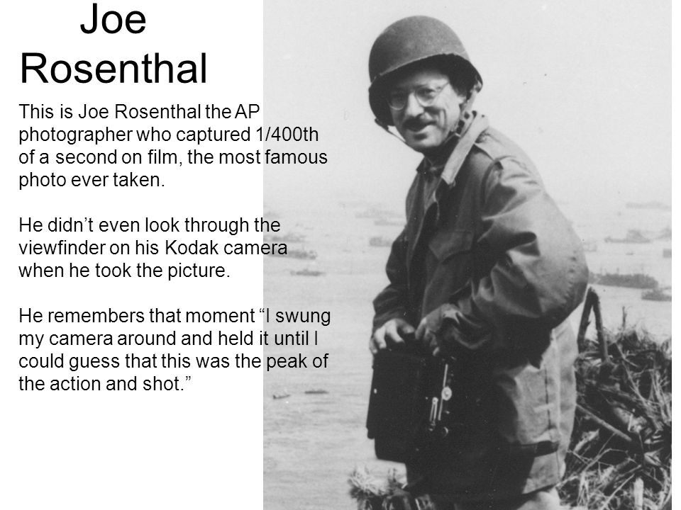 Image result for photographer joe rosenthal