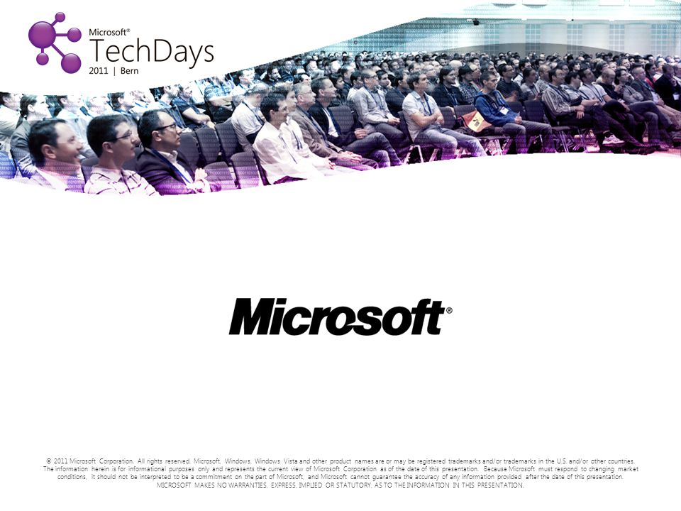 © 2011 Microsoft Corporation. All rights reserved.