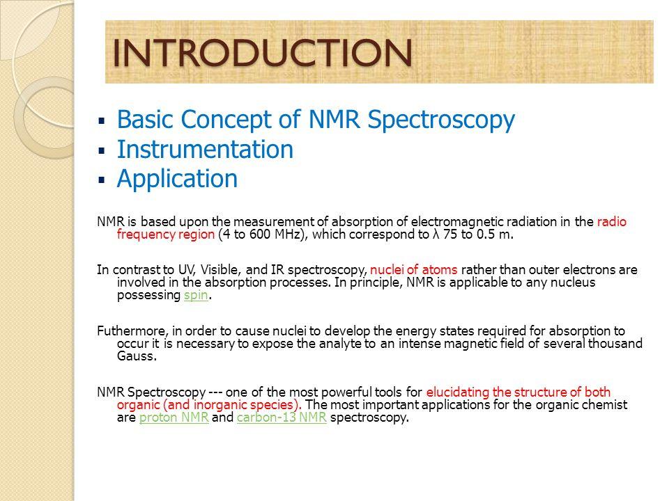 Nuclear Magnetic Resonance Nmr Spectroscopy Sulistyo Saputro