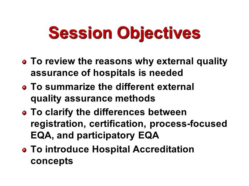 Quality Assurance and Hospital Accreditation Assoc Prof