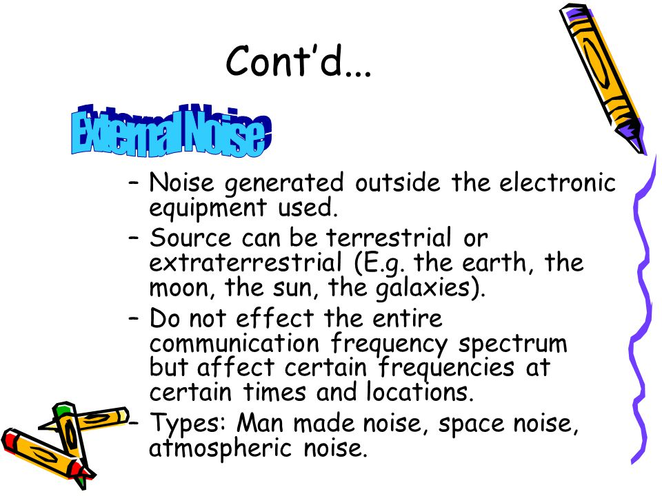 how does noise affect communication
