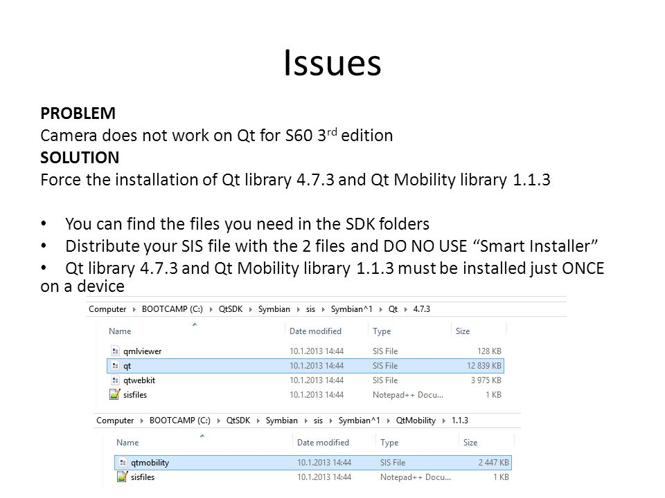 LAMAD Symbian Qt install and deploy Installing Qt SDK and deploying