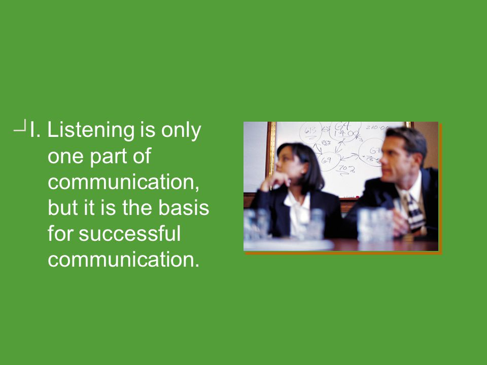 Objective 1 Understand the importance of good listening skills in oral communication.