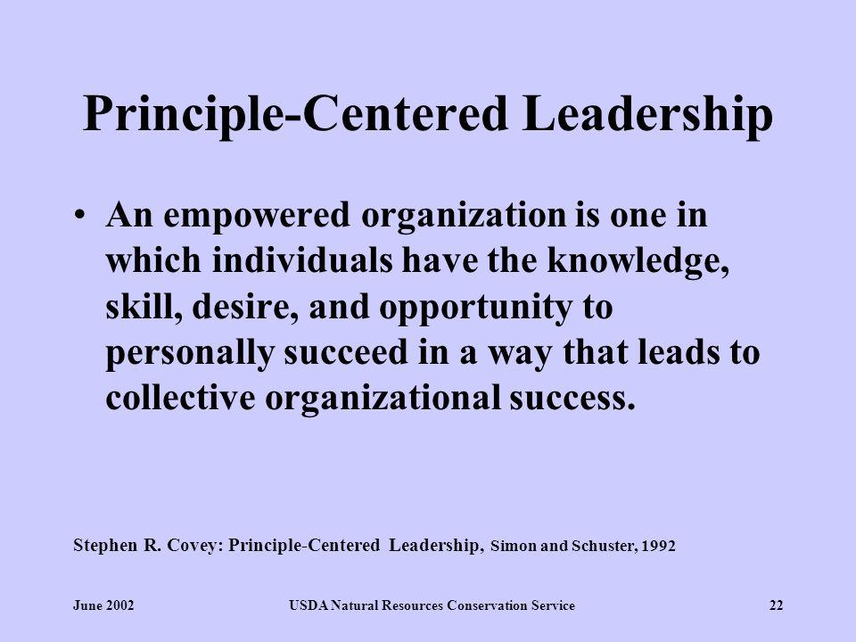 principle based leadership covey