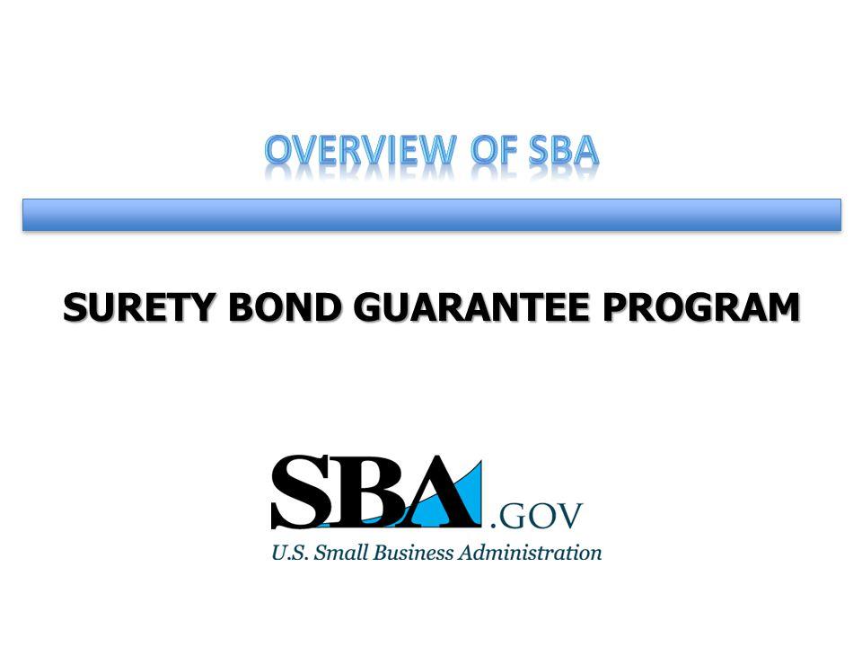 Surety Bond Guarantee Program What Is A Surety Bond Agreement