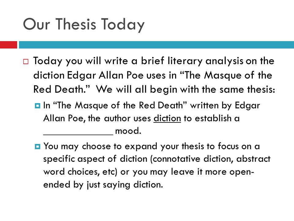 diction analysis essay
