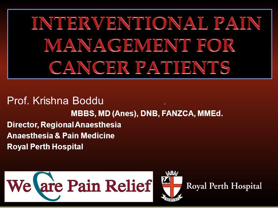 1 Prof  Krishna Boddu  MBBS, MD (Anes), DNB, FANZCA, MMEd  Director