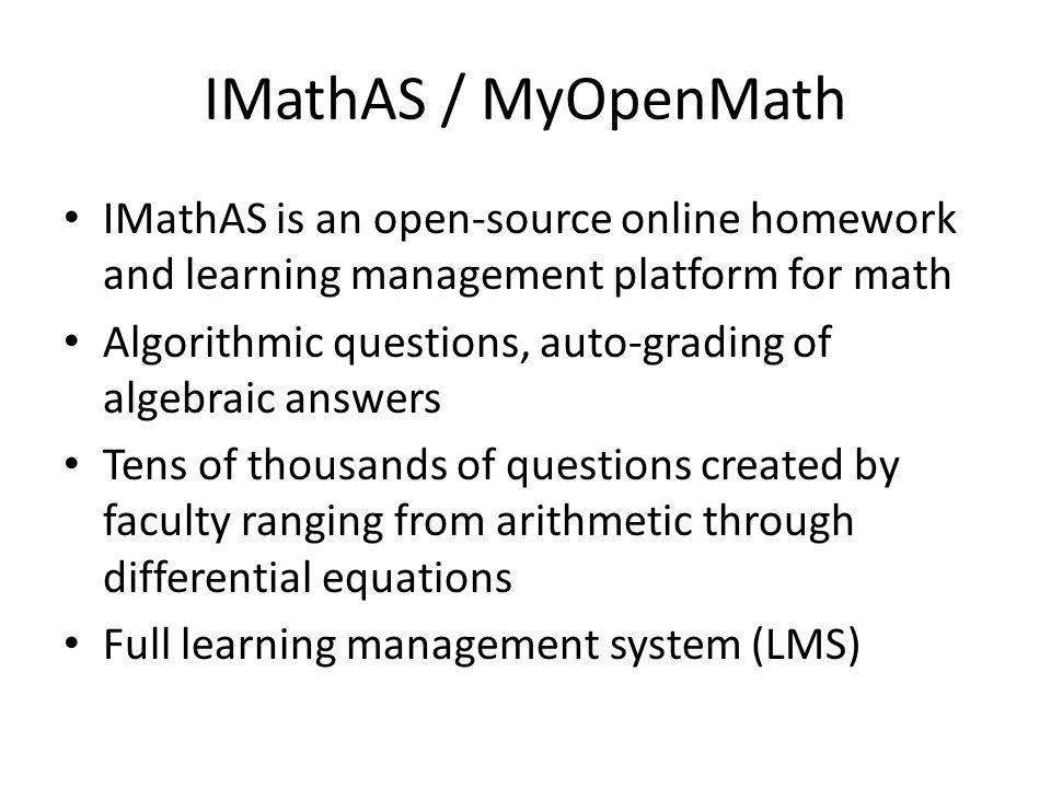 Myopenmath Quiz Answers