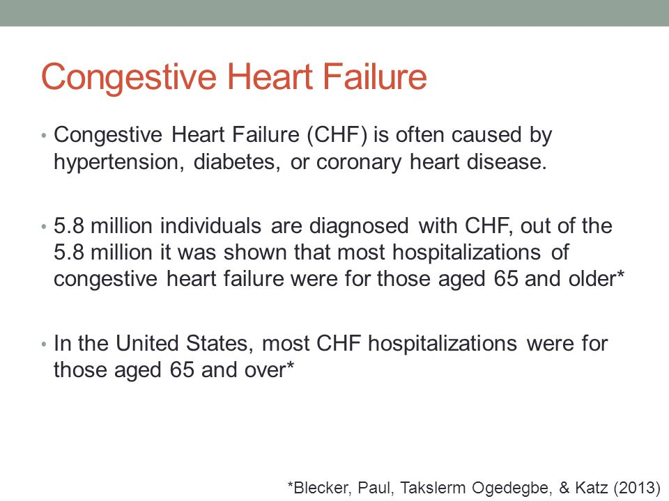 Congestive Heart Failure Chf Is Often Caused By Hypertension Diabetes