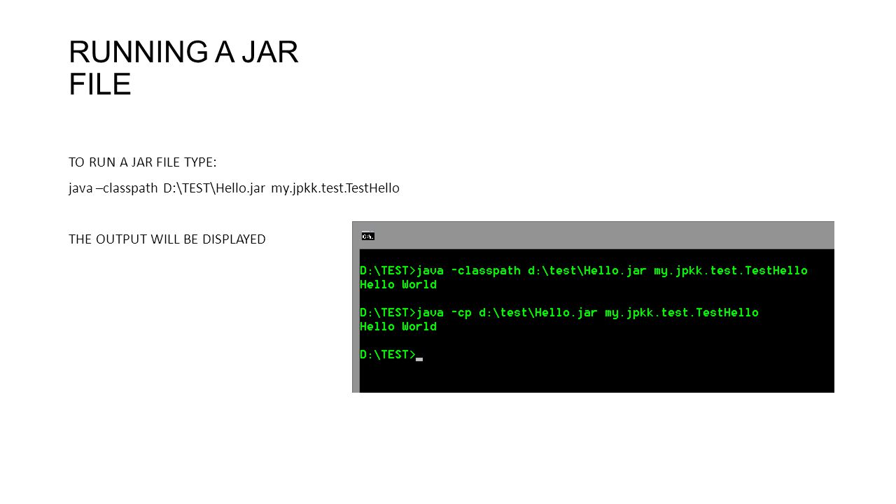 COMPILING JAVA PROGRAM USING JDK COMMAND LINE WINDOWS