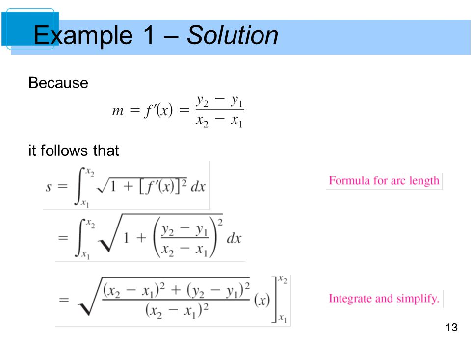 13 Example 1 – Solution Because it follows that