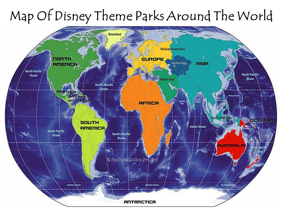 Map Of Disney Theme Parks Around The World. Orlando, Florida ...