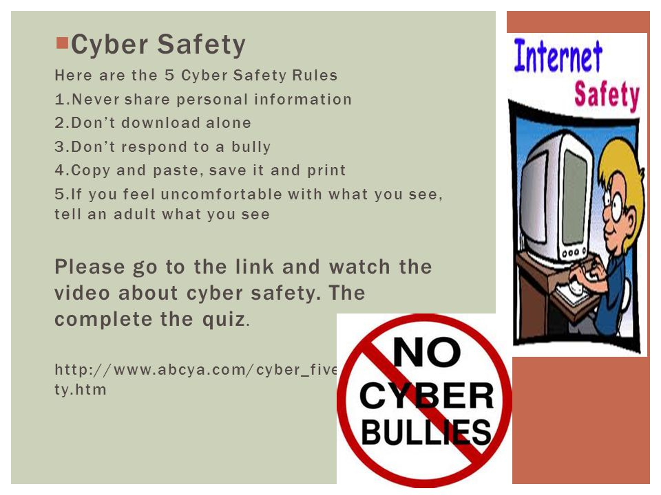 internet safety rules for adults