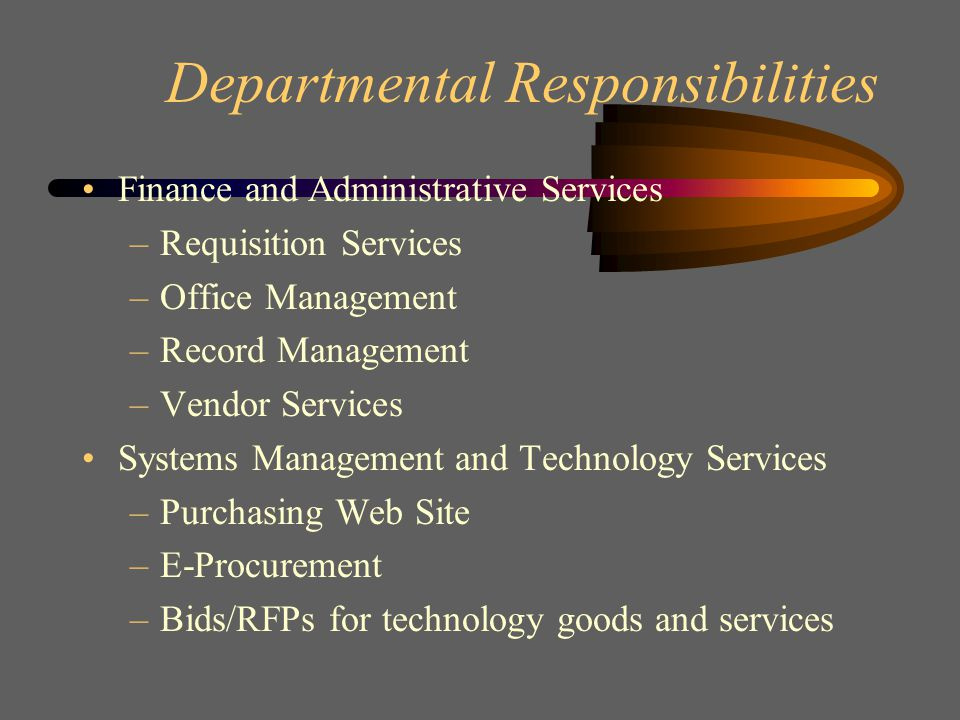 Departmental Structure The Department of Procurement and Contracts is comprised of five (5) primary business units 1.
