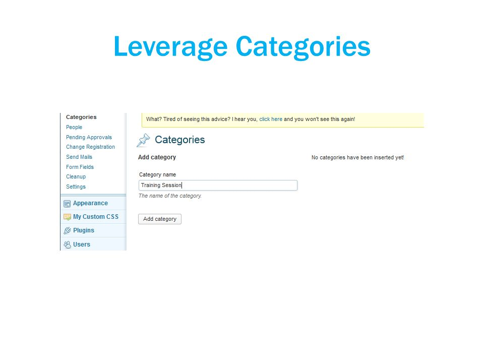 Leverage Categories