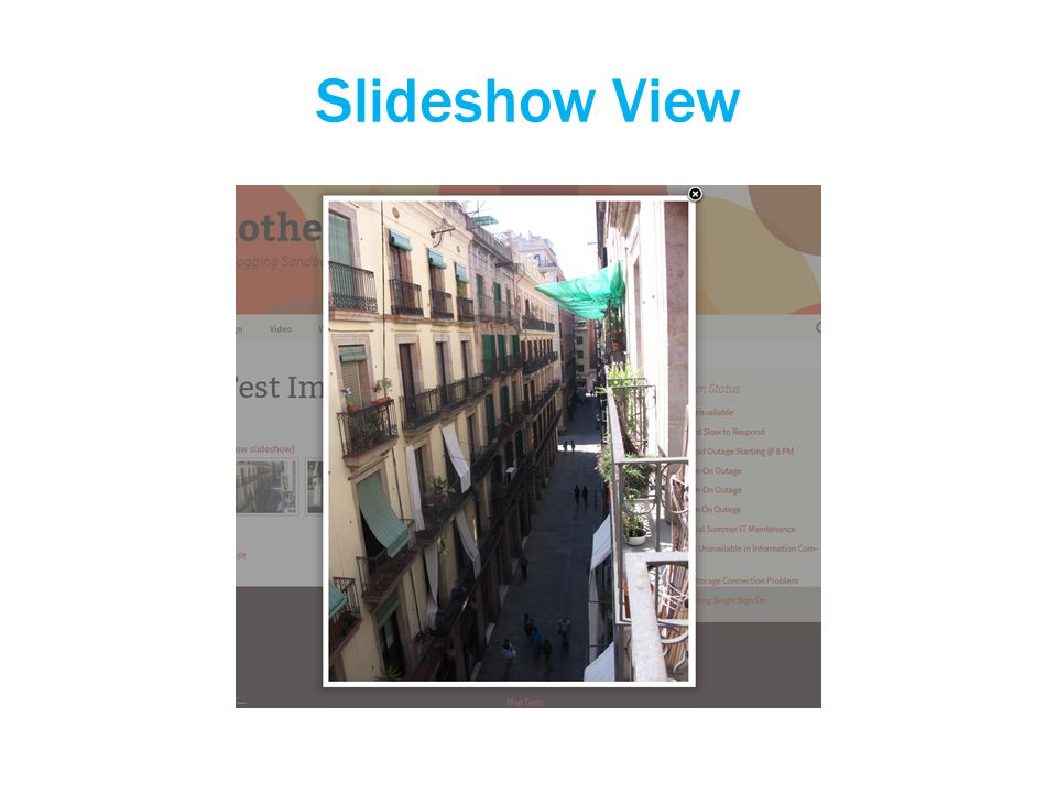 Slideshow View