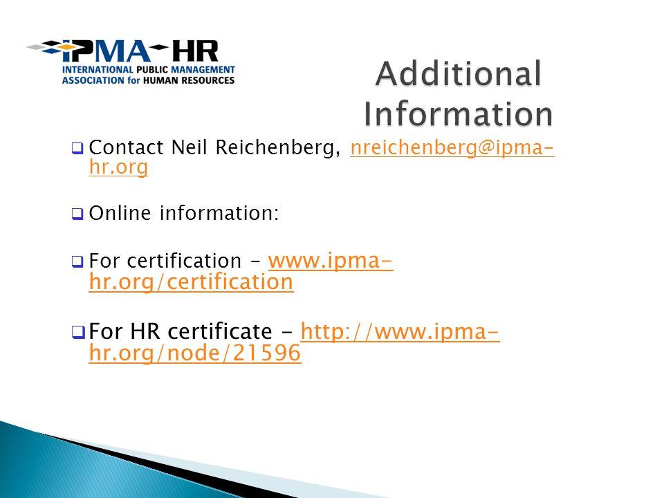 Neil Reichenberg Cae Executive Director Ipma Hr Ppt Download