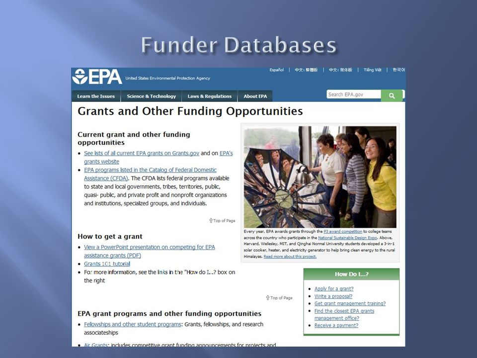 1  Types of Awards 2  Identify Funding Opportunities 3  How